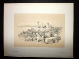 David Roberts Holy Land 4to 1887 Antique Print. Ruins of a Ionic Temple
